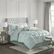 Home Essence Piedmont 7 Piece Tufted Comforter Set, Queen, Navy