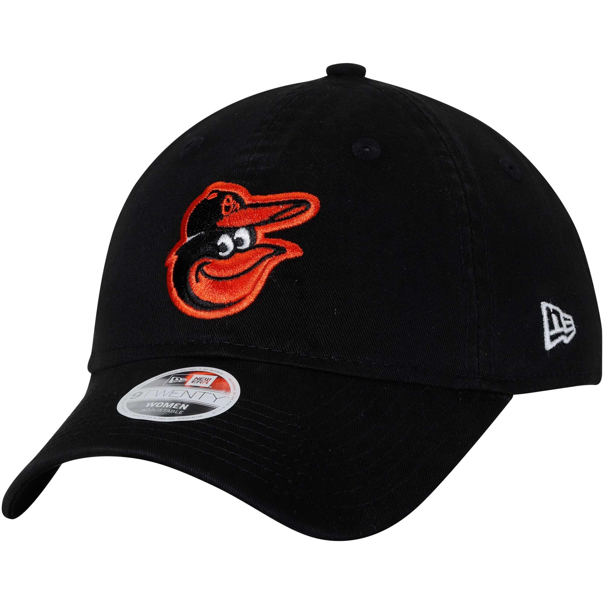 Baltimore Orioles New Era Women's 9TWENTY Essential Adjustable Hat - Black - OSFA