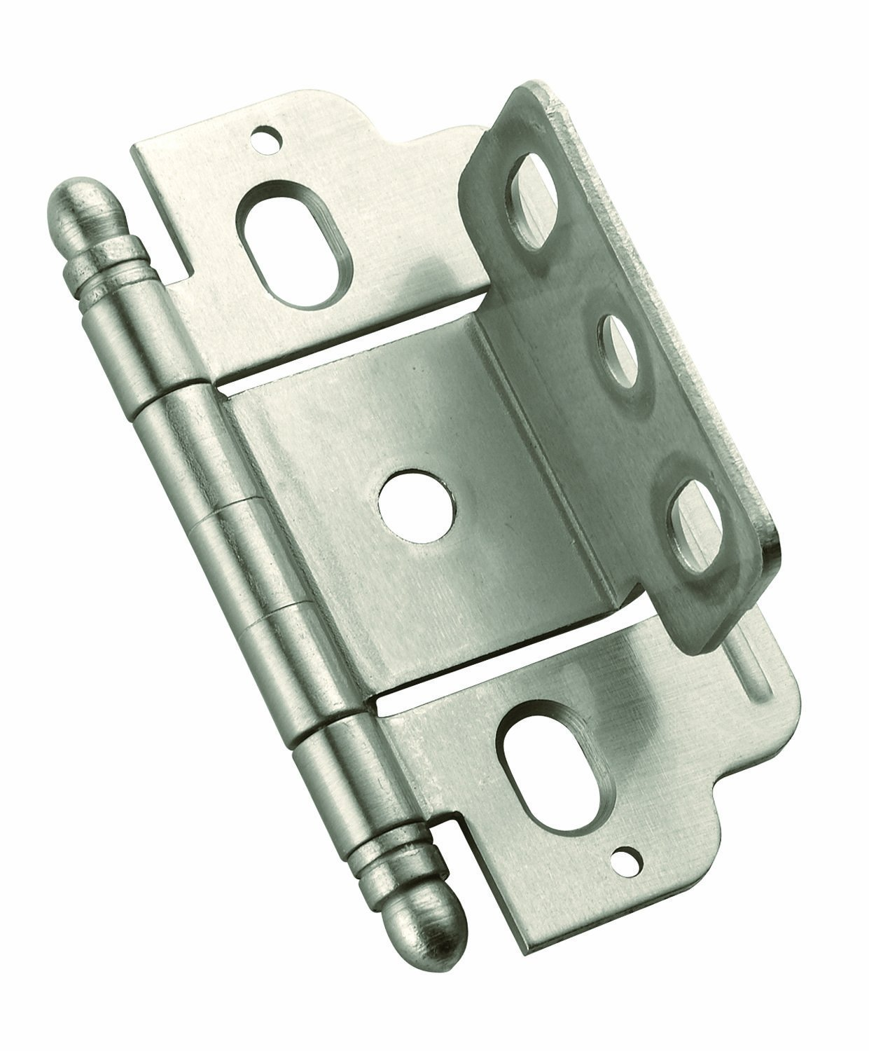 PK3180TBG10 Full Inset, Partial Wrap, Ball Tip Hinge With 3/4in(19mm) Door  Thick.   Satin Nickel, 3/4 In (19 Mm) Door Thick. Hinge By Amerock Ship  From US ...