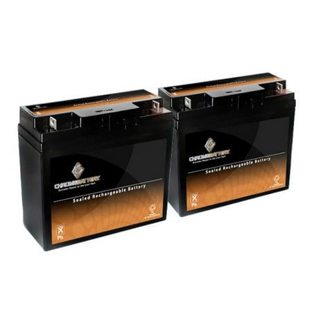 12V 20AH SLA Battery for Pride Mobility Go-Go Elite (2 Pack)