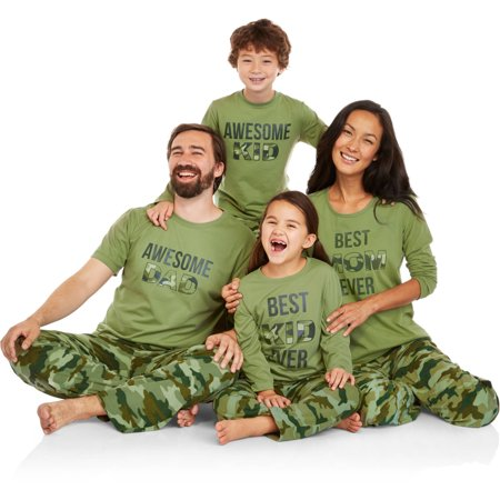 d75ae53069 Holiday Family Pajamas Camo Sleep Pant and Top 2 Piece Sleepwear Set -  Walmart.com