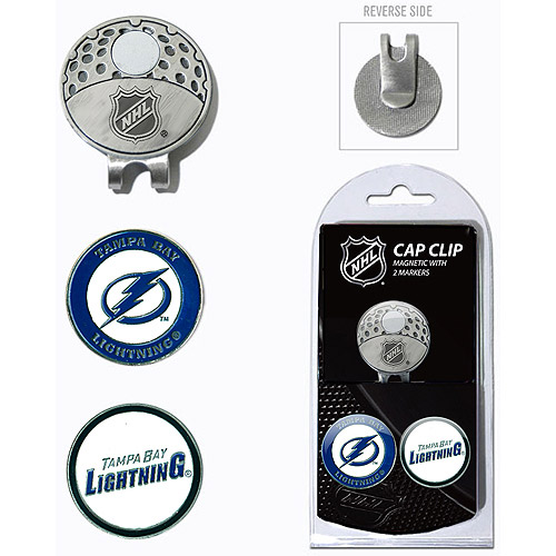 Team Golf NHL Tampa Bay Lightning Cap Clip With 2 Golf Ball Markers