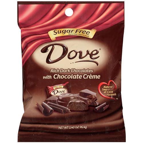Dove Sugar Free Creme Chocolate, 3.4 oz