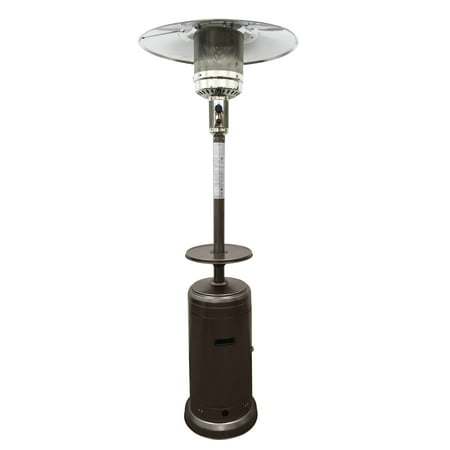 AZ Patio Heaters Outdoor Patio Heater in Hammered - Gas Freestanding Portable Patio Heater