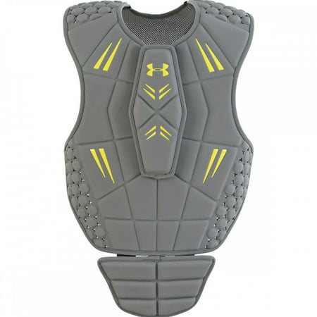 New Under Armour VFT Goalie Lacrosse Chest Pad Silver/Yellow
