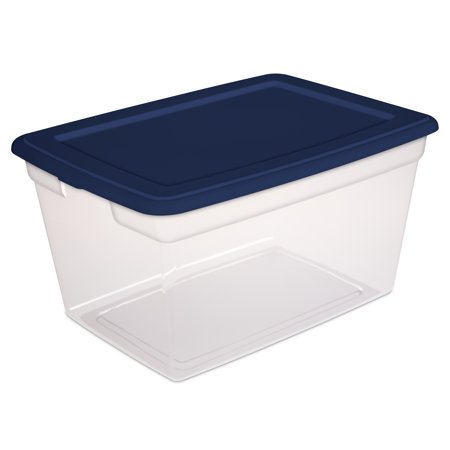 Sterilite 58-Quart (55 L) Storage Box, Ultramarine