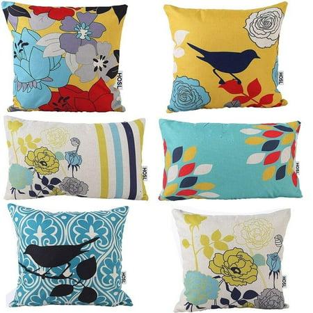 Vinyl Boutique Shop Decorative Pillow Cover Case Bird And Flower