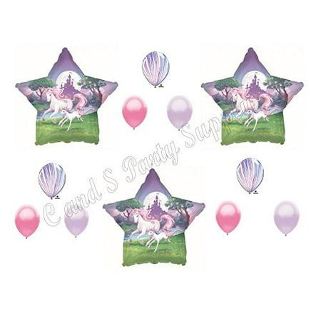 FANTASY ENCHANTED UNICORN RAINBOW BIRTHDAY GIRL Birthday Balloons Decoration Supplies Party Pink](Girl Birthday Decorations)