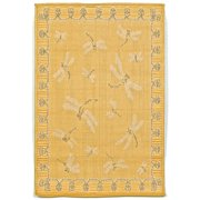 """TERRACE 1746/59 DRAGONFLY YELLOW - 23""""X35"""" Area Rug by Trans-Ocean"""