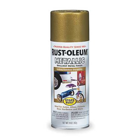 - RUST-OLEUM 7275830 Spray Paint,Burnished Brass,11 oz.