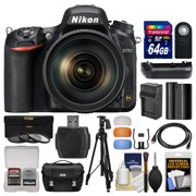 Nikon D750 Digital SLR Camera & 24-120mm f/4 VR Lens with 64GB Card + Case + Battery & Charger + Grip + Tripod + Filters + Kit