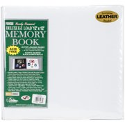 "Pioneer Deluxe Bonded Leather Album 12""X12""-White"