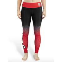 NCAA Women's Rutgers Scarlet Knights Gradient Print Leggings, Black