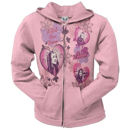 Hannah Montana - A Girl Can Dream Youth Hoodie Womens Old School Knit Hooded