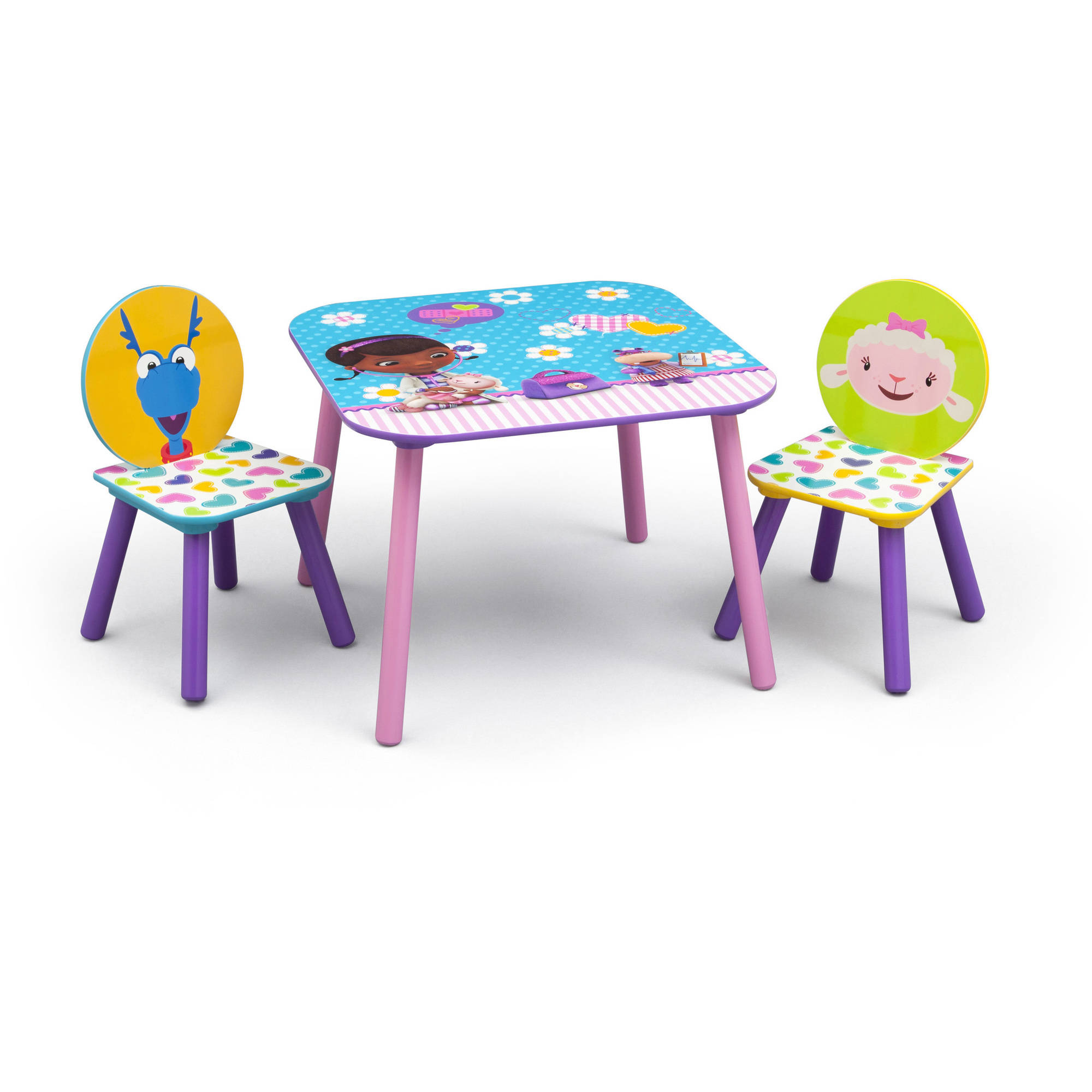 Disney Jr. Doc McStuffins Table and Chairs Set, Multi-Color