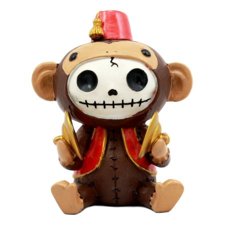 Furry Monster (Ebros Larger Furry Bones Circus Fez Monkey Skeleton Monster Sit Up Collectible Figurine)