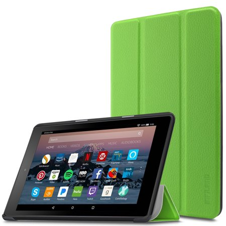 "Infiland Slim Lightweight Cover Case for All-New Amazon Fire 7 (7th Gen, 2017 Release) 7"" Tablet, Green"