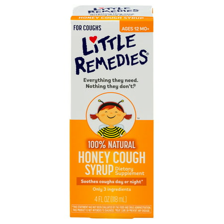 Little Remedies Honey Cough Syrup, 100% Natural, 12 Months+, 4 FL (Best Remedy For Asthma Cough)