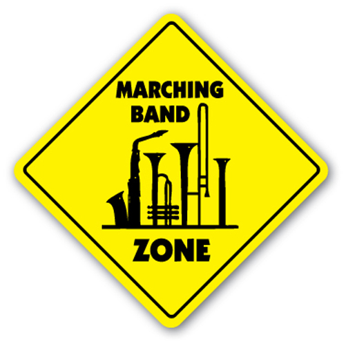 "Marching Band Zone [3 Pack] of Vinyl Decal Stickers | 4"" X 4"" 