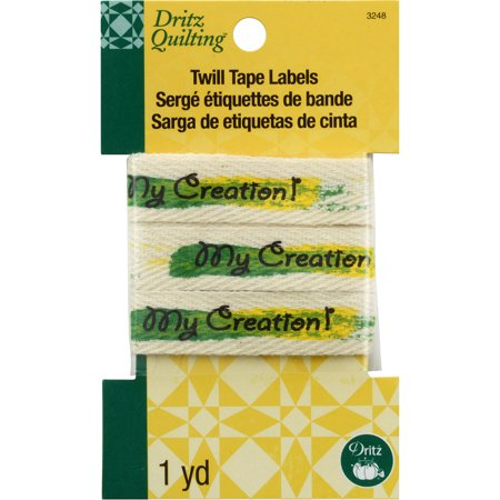 """Dritz Quilting Twill Tape Labels 36""""-My Creation"""