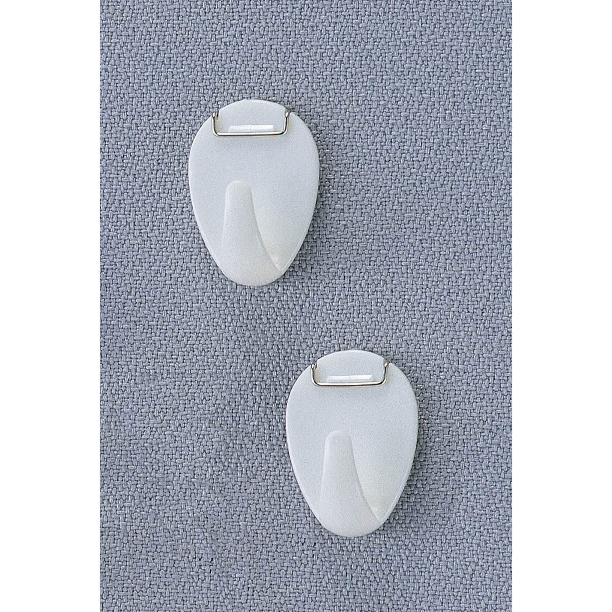 Oic Cubicle Hooks - 5 / Pack - White Color - Metal, Plastic Material (oic-30180)