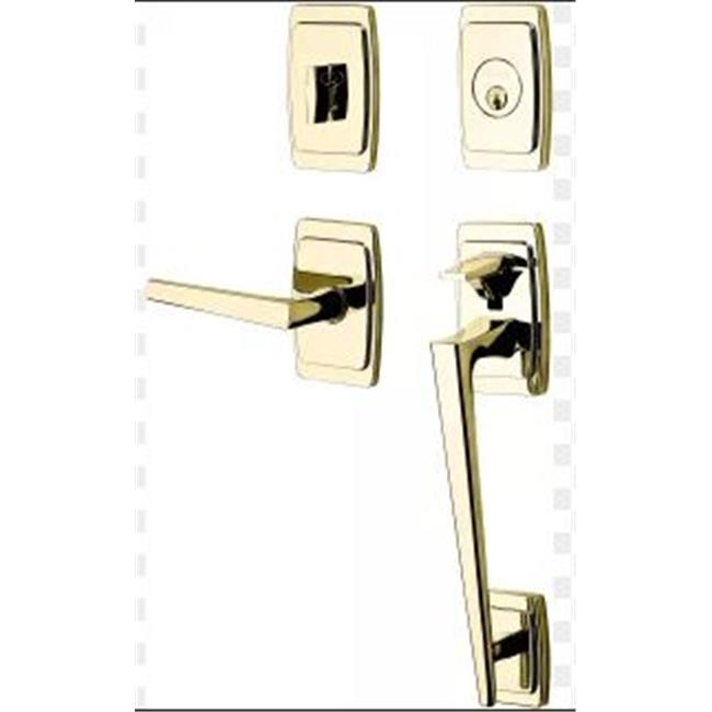 Baldwin 85396056RENT Palm Springs Single Cylinder Keyed Entry Full Plate Sectiona, Right Handed - image 1 de 1
