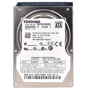 "Refurbished Toshiba MK3265GSX 320GB HDD SATA/300 5400RPM 8MB 2.5"" Laptop Internal Hard Drive"