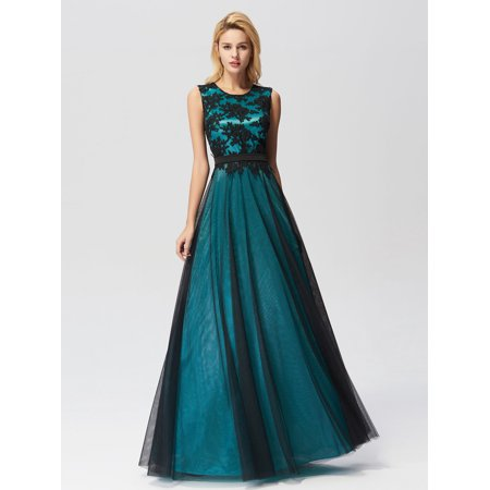 5d6f643accd Ever-pretty - Ever-Pretty Women s Elegant Tulle A-Line Long Evening Prom  Party Homecoming Dresses for Juniors 07545 Green US 4 - Walmart.com