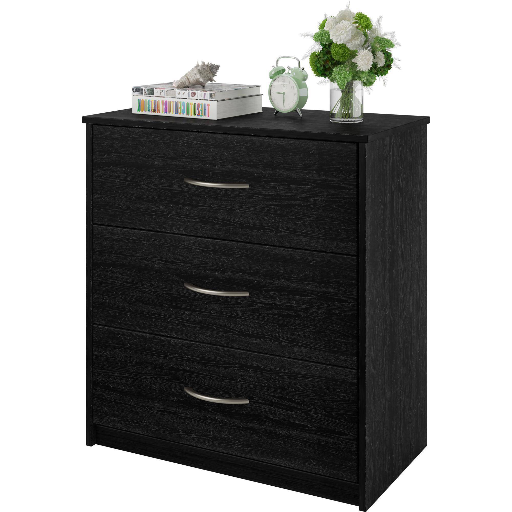 3 Drawer Dresser Chest Bedroom Furniture Black Brown. 3 Drawer Dresser Chest Bedroom Furniture Black Brown White Storage
