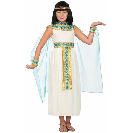 Child's Girls Egyptian Nile Queen Cleopatra Dress Costume