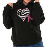 Pink Ribbon Zebra Breast Cancer Awareness Hoodie