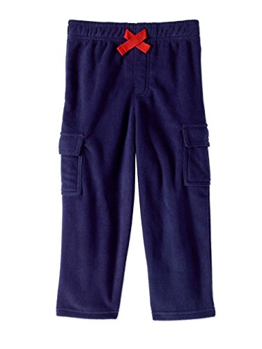 Baby Toddler Boys 2t-5t Cargo Fleece Pants - Blue, Black or Camo (4t, Blue)
