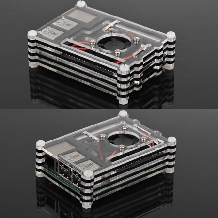 TSV 9-Layer Premium Acrylic Case Box Shell Enclosure For Raspberry Pi 3 Model