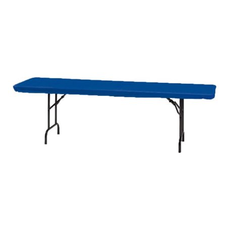30 x 96 Plastic Stay Put Tablecover Royal Blue/Case of 12](Stay Put Table Cover)