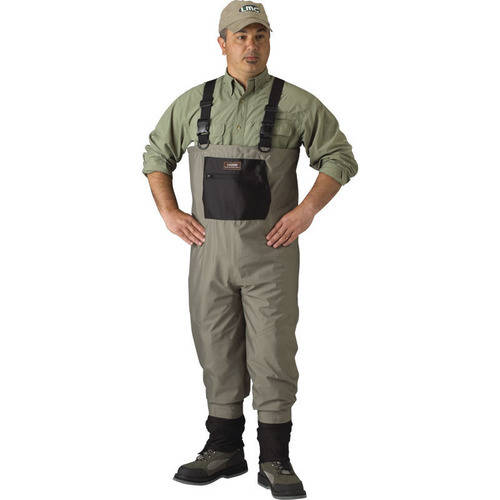 Click here to buy Caddis Men's Breathable Stockingfoot Waders L Stout Tan by Caddis Wading Systems.