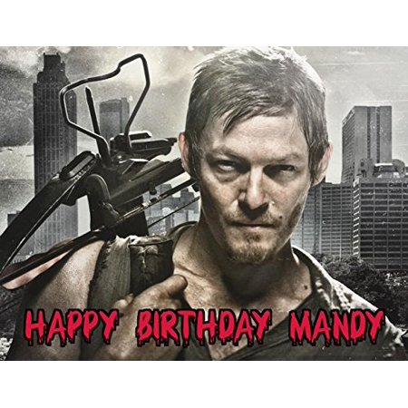 1/4 Sheet The Walking Dead TWD Daryl Edible Frosting Cake Topper* (Halloween Cake Walk Printable)