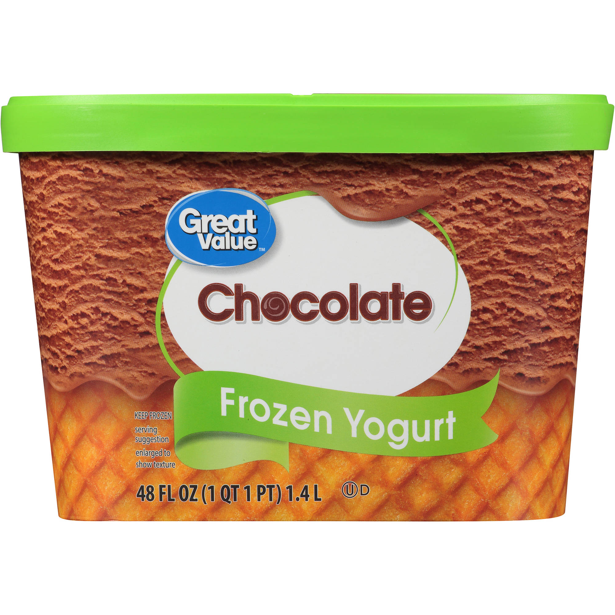 Great Value Chocolate Frozen Yogurt, 48 oz