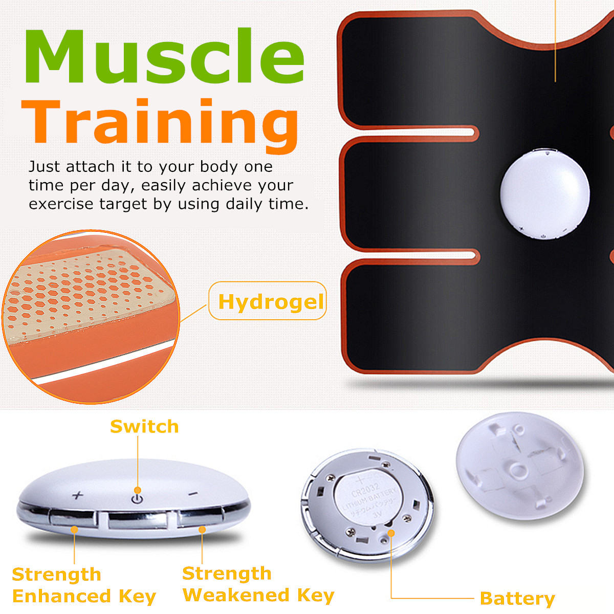 Smart Abs Stimulator Training Fitness Gear Muscle Training ...