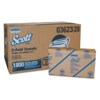 Scott Essential C-Fold Paper Towels (03623), Absorbency Pockets, White, 200 Towels per Pack, 9 Packs, 1,800 Towels per Convenience Case