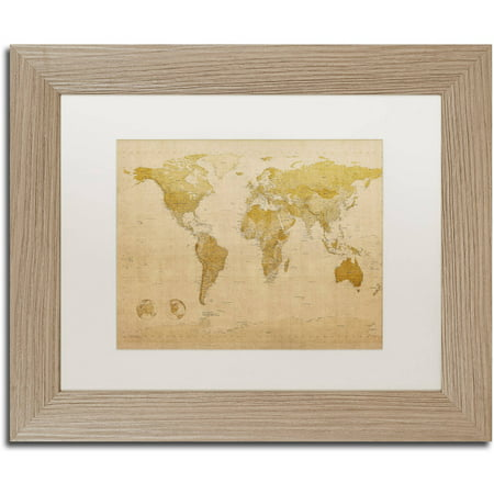 Trademark fine art antique world map canvas art by michael trademark fine art antique world map canvas art by michael tompsett white matte publicscrutiny Choice Image