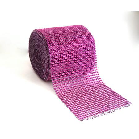 Diamond Rhinestone Mesh Ribbon Wrap Roll Wedding Party Decoration Trim 4.5