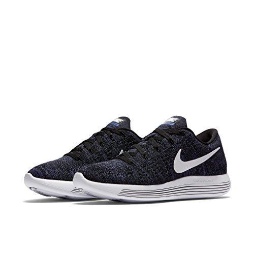 Nike 843765-005: Womens Nike Lunarepic Low Flyknit Black Dark Purple by