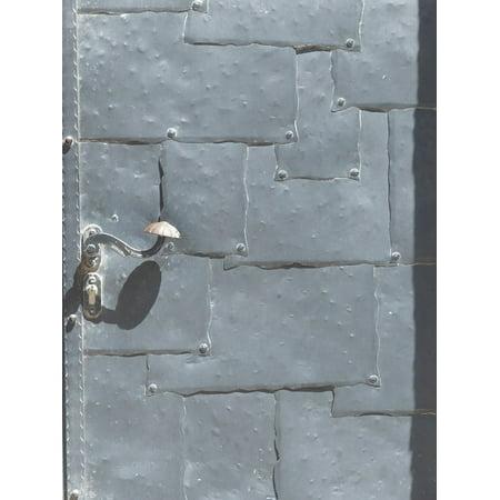 LAMINATED POSTER Steel Door Protection Weir Gate Solid Door Metal Poster Print 24 x -