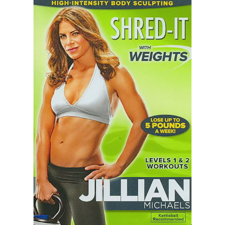 Jillian Michaels: Shred It with Weights (DVD) (Jillian Michaels The Biggest Winner Cardio Kickbox)