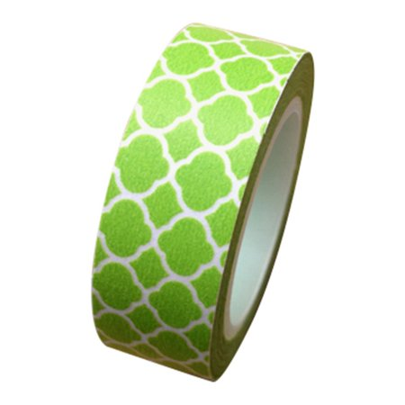 Dress My Cupcake Washi Paper Tape for Gifts and Favors, Kiwi Green Spanish Tile