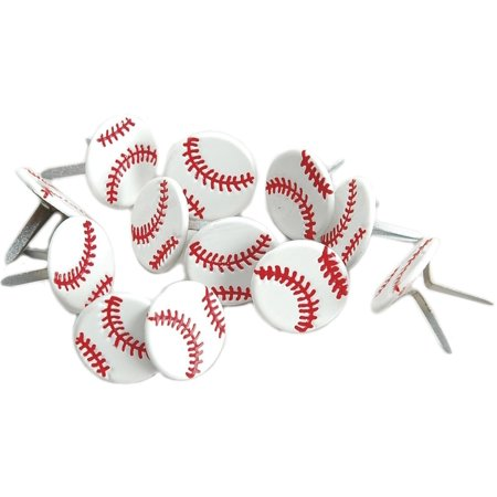 Baseball Clearance Outlet (Shape Brads-Baseball 12/Pkg, Contains 12 per pack By EYELET)