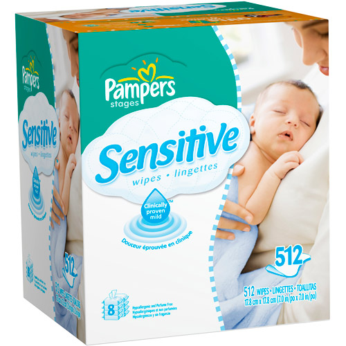 Pampers - Sensitive Baby Wipes and Refill Bundle, 512 count