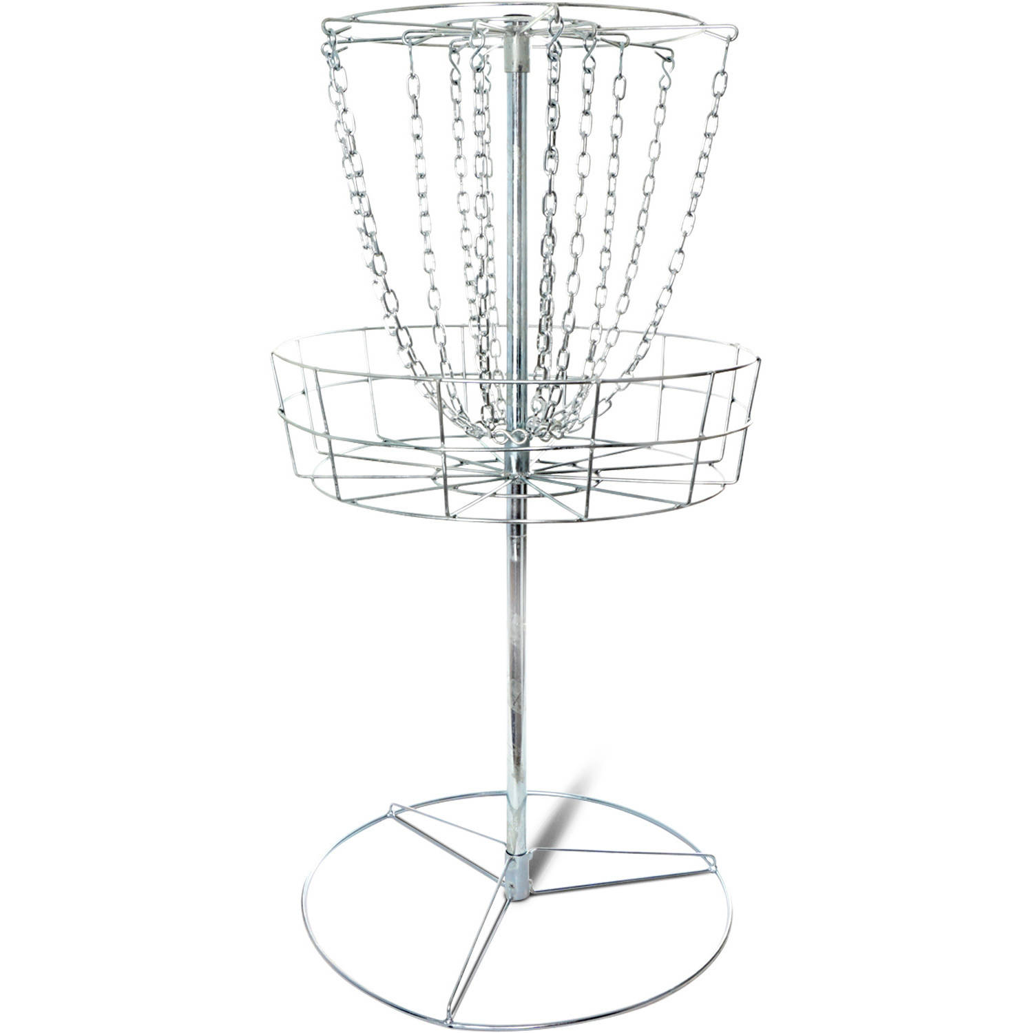 Titan Disc Golf Basket Double Chains Portable Practice Target Steel Frisbee by Titan Fitness