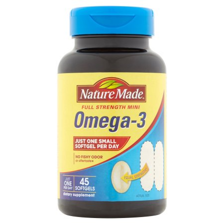 (2 Pack) Nature Made One Per Day Full Strength Mini Omega-3 Softgels, 45 (Omega 3 Mint)