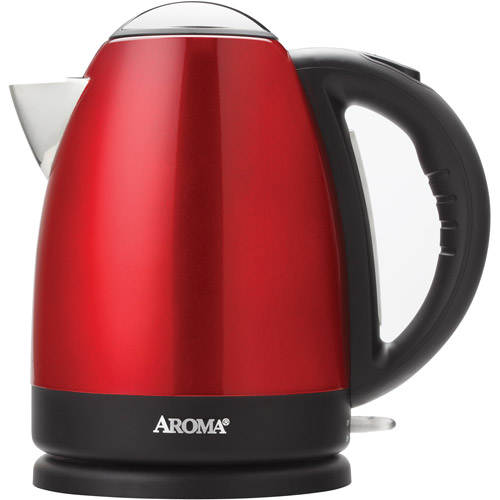 7-Cup Stainless Steel Electric Kettle, Red